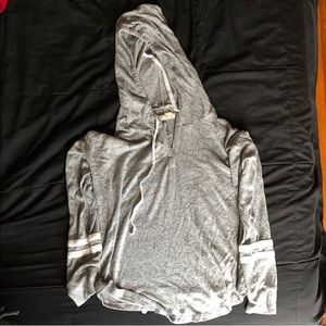 Grey hooded shirt from Hollister